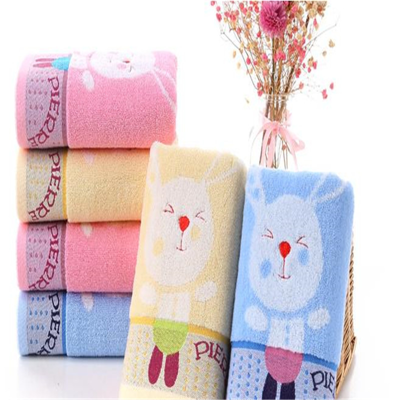 Pure Cotton Jacquard Towel Cartoon Upset Bibulous Embroidery Supermarket Sale Adult Wash A Face To Face Towel 0021