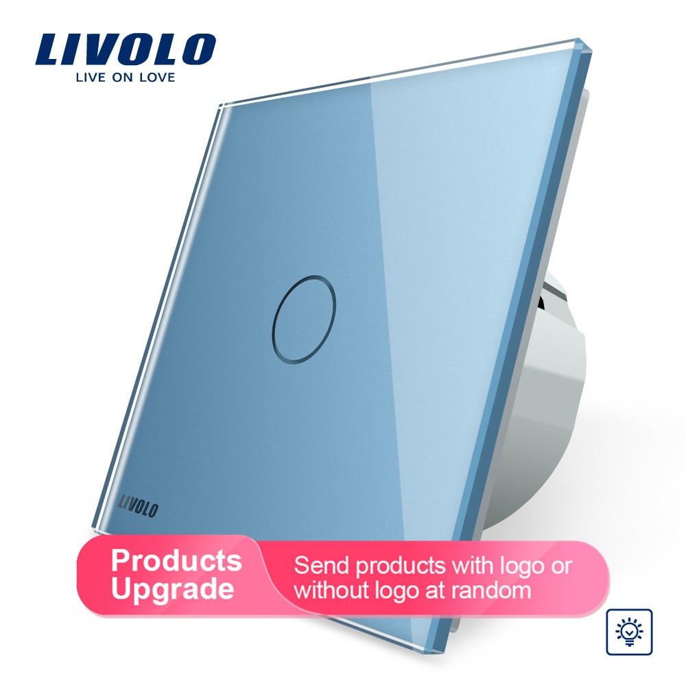 Image 5 - Livolo стандарт ЕС Диммер настенный выключатель, AC 220 ~ 250 В, Хрустальная стеклянная панель, 1 комплект 1 способ диммер, VL C701D 1/2/3/5-in Выключатели from Товары для дома