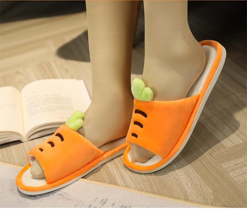 H7bf1edf0e18b41268dad420ad6e11e6bH Plus size chinelos menina dedo do pé aberto antiderrapante grosso cenoura abacaxi interior casa de madeira sapatos verão casal casa chinelos