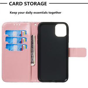 Image 5 - New Shining Wallet Flip PU Leather Case For iPhone 2019 6.5 6.1 5.8 Unicorn Pattern Cartoon Protector Phone Bag Cover Shell Gift
