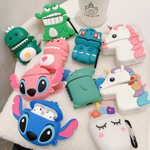 For AirPods Case Cute 3D Cartoon Kawaii Earphone Case for Airpods 1/2/i10/i11/i12 TWS Soft Protect Cover with Finger Ring Strap