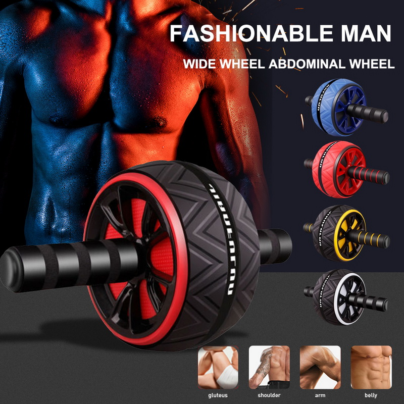Hot ABS Abdominal Roller Exercise Wheel Mute Roller Arms Back Belly Core Trainer Body Shape Training Supplies Fitness Equipment