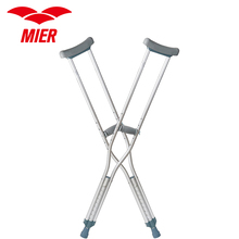 MIER Crutches Push Button Adjustable Crutches Aluminum Crutches, Adult