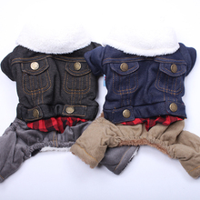 Jacket Outfit Coat Puppy Winter Warm Dog Pet-Puppy-Jumpsuit Apperal Corduroy