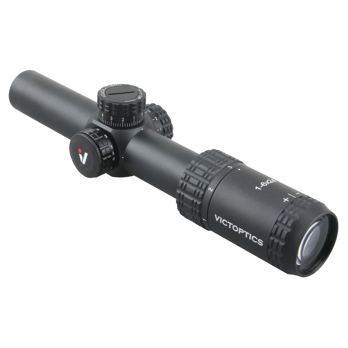 Victoptica – lunette de visée S6 1-6x24 SFP, avec soulagement des yeux et éclairage, réglage 1/5 MIL, compacte, pour AR 15 .223 5.56 3
