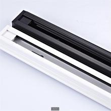 6 шт. 1 м рельс для светодиодного трека, 2 провода рельсы, черный/белый корпус, разъемы для рельсов, L I T разъемы