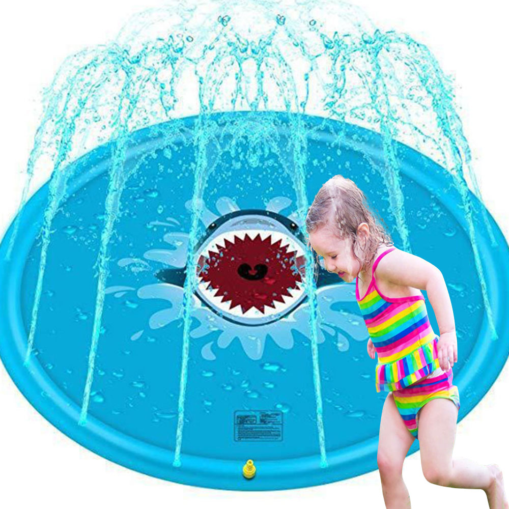 170cm Kids Play Water Cushion Games Beach Pad Spray Water Mat Backyard Tub Swimming Pool Splash Sprinkler Fountain Game Pad