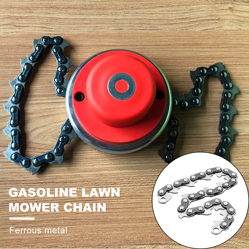 1pcs Mower Chain Lawn Machine Home Weeder Metal Black Cutting Bushes Accessory Multifunctional Chain Home Garden Improvement