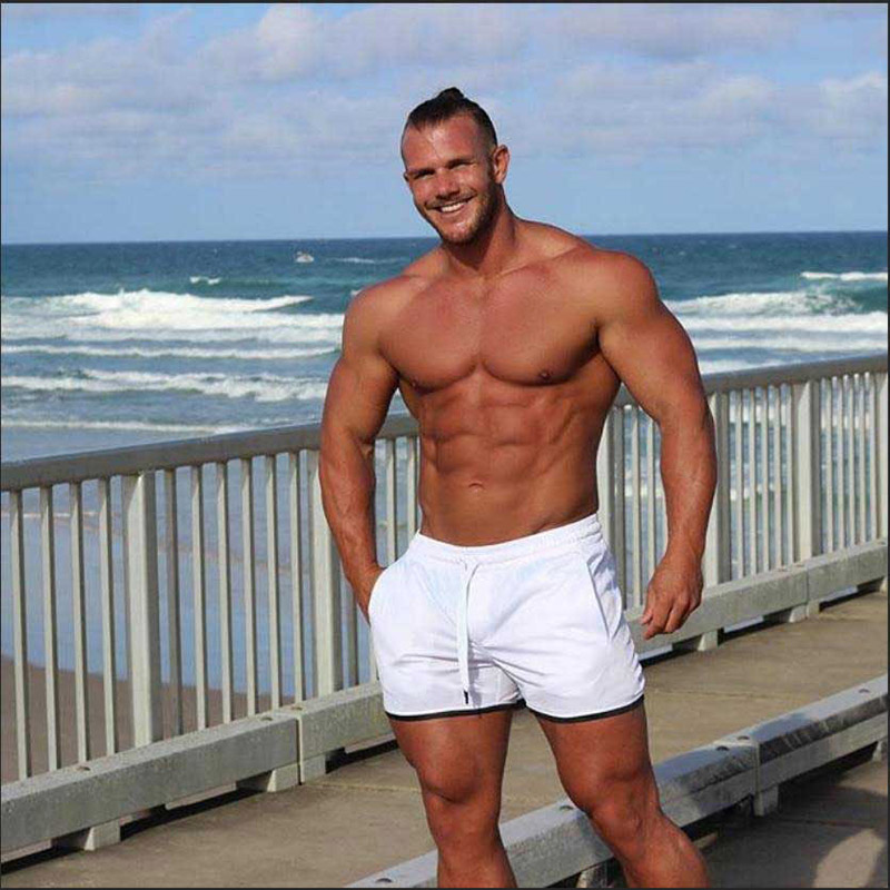2020 Mesh Mens Gym Shorts Summer Fitness White Shorts Gym Casual Breathable Beach Shorts Male Bodybuilding Bottoms Quick Dry Шорты      АлиЭкспресс
