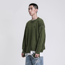 19SS Cooo Coll Men Women Long Sweater High streetwear Winter cotton Loose casual pull Streetwear sweter Hole Tops pullover