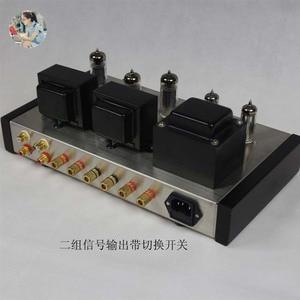 Image 2 - Nobsound casa áudio tubo amplificadores kit diy 6z4 + 6n2 6p1 aço inoxidável habitação saída de potência 2*4w ac110v/220v opcional