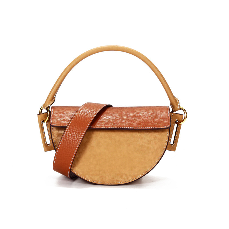 2020 Summer Saddle Small Genuine Leather Messenger For Bag Famous Brand Female Luxury Handbags Women Bags Designer Sac De Plage