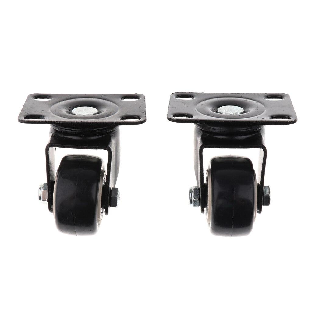 4 x Heavy Duty 40mm PVC Swivel Castor Wheels Trolley Furniture Caster Black