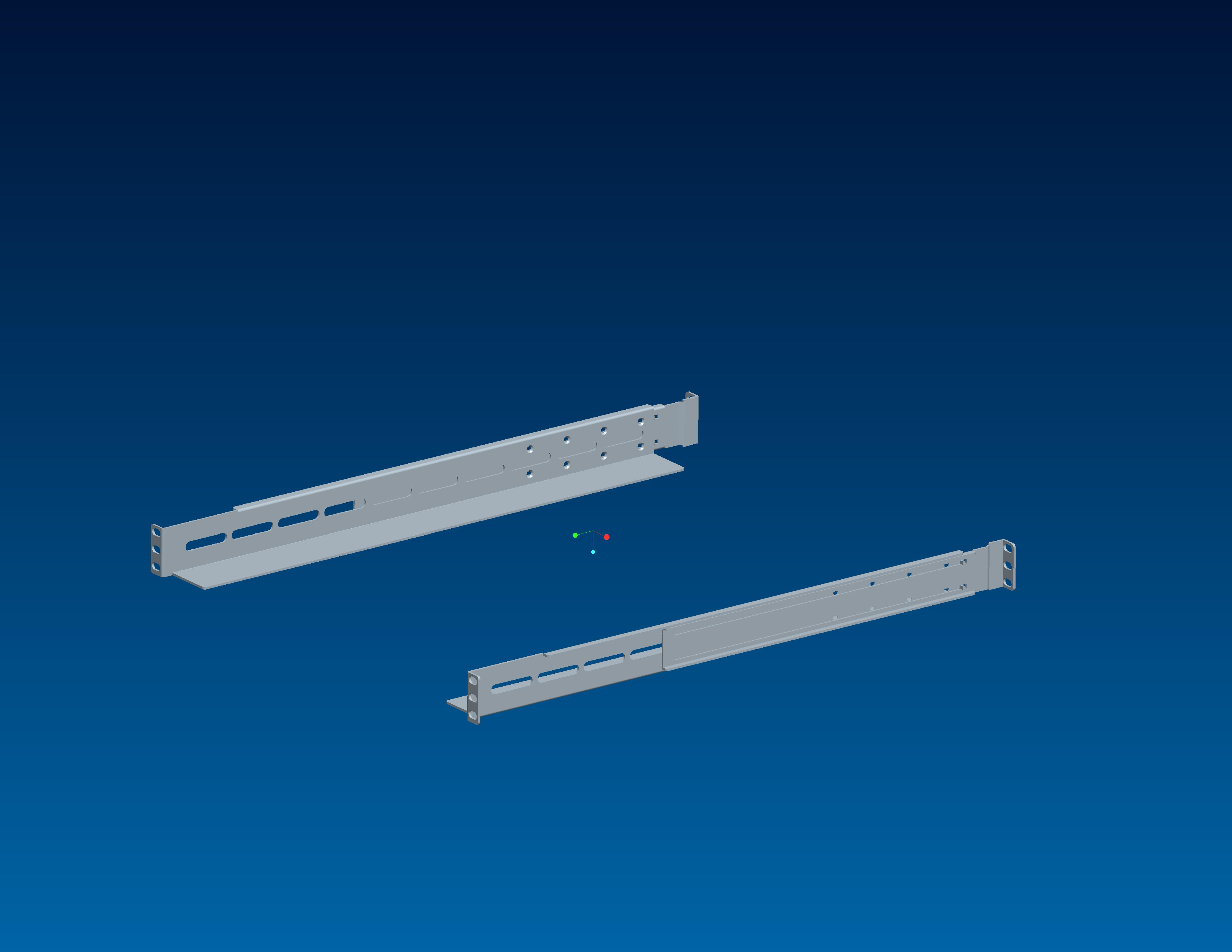 L Universal Rail Kits For 19inch Storage Server Expansion Cabinet
