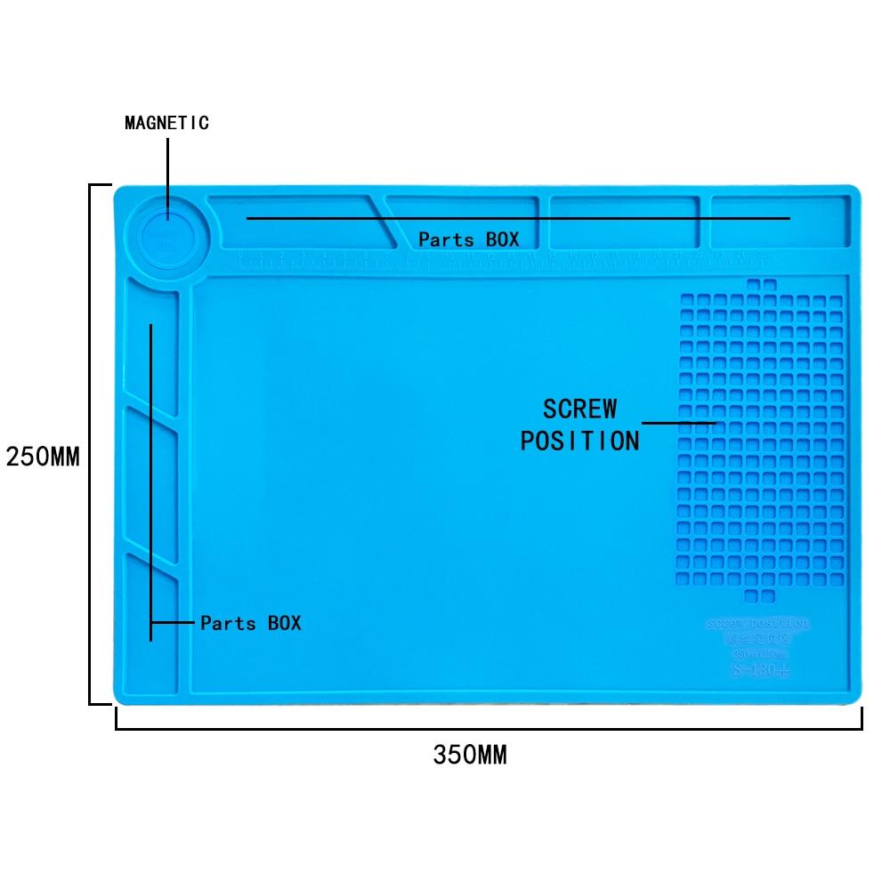 ESD Heat Insulation Working mat Soldering Station Iron Phone Computer Repair Mat Magnetic Heat-resistant BGA  Insulator Platform 6