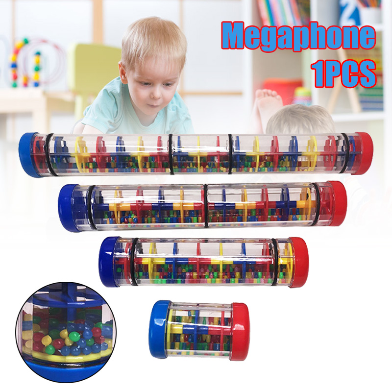 2020 New Rainbow Hourglasses Rainmaker Rain Stick Raindrop Sound Musical Toy for Kids Portable