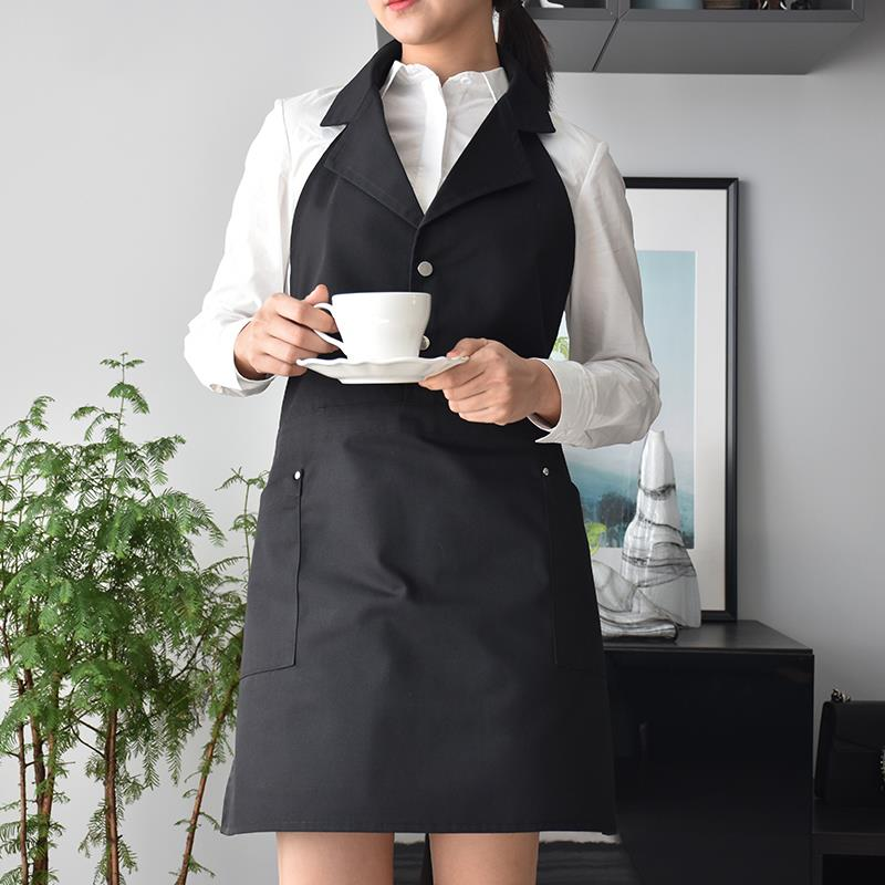 חדש מספרה מעצב אפוד חלוק בארבר סלון יופי סינרי נשים Groomers לחיות מחמד ספא סלון מדים מגן בגדי עבודה