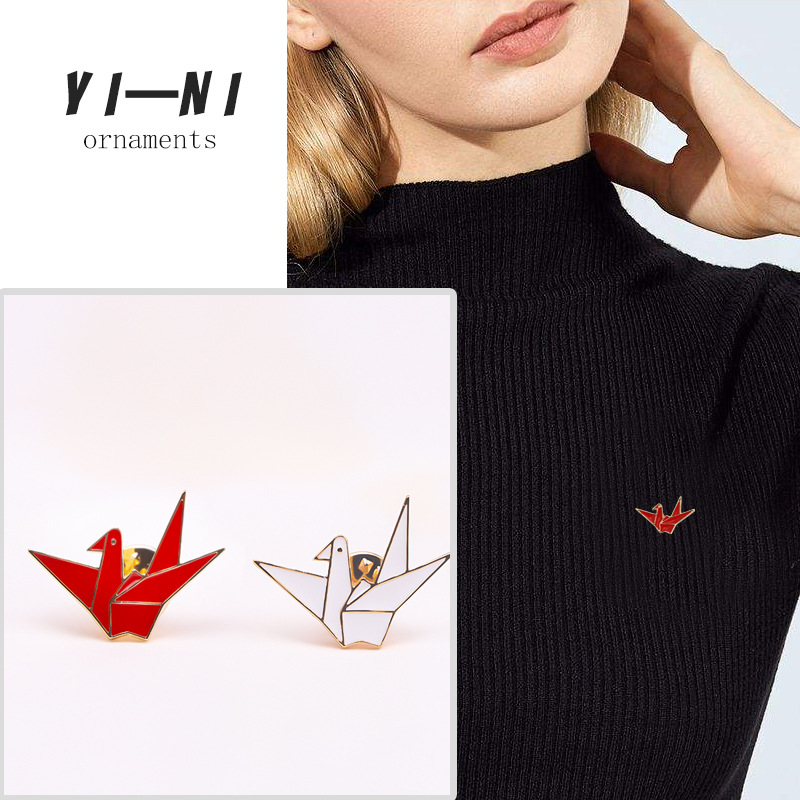 Bad Guy Thousand Paper Cranes Brooches for Women's Brooch Pin Jewelry Clothes Scarf Buckle Garment Accessories Fashion Jewelry-3
