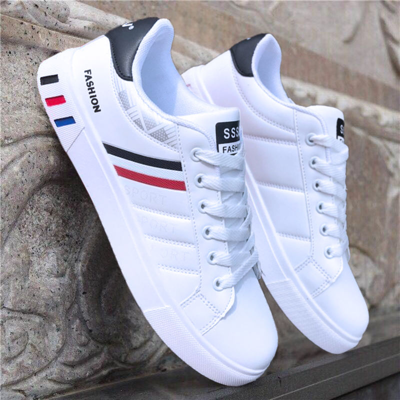 White Shoes Fashion Sneakers Men's Footwear Cool Street Spring Zapatos-De-Hombre Man title=