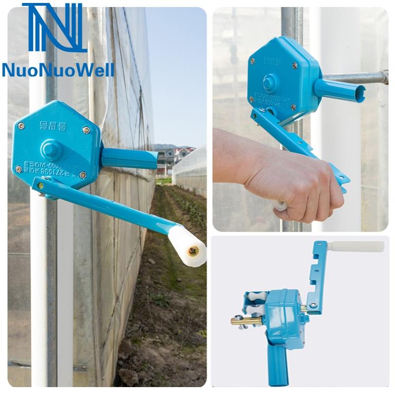 Инструменты для подъема пленки для теплиц, политоннель, ручное устройство для скручивания, затеняющая сетка, сельскохозяйственная боковая ...