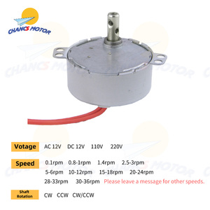 CHANCS TYC-50 Small Synchronous Motor 12V/110V/220V AC 0.8-1RPM 1.4RPM 15-18RPM 30-36RPM 4W Gear Motor For Electric Fireplace