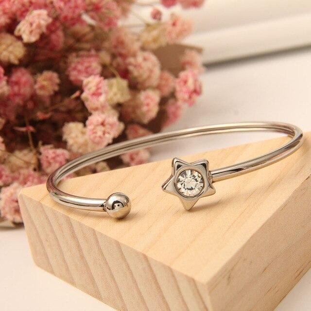 Купить женский браслет dlcaylun регулируемый эластичный из стальной