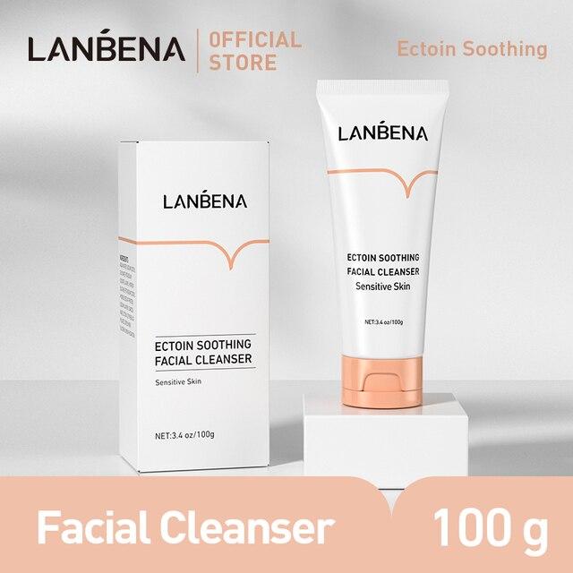 LANBENA Facial Cleanser Ectoin Anti Allergic Repair Soothe For Sensitive Skin Care Face Wash Foam Nourishing Moisturizing 100g 1