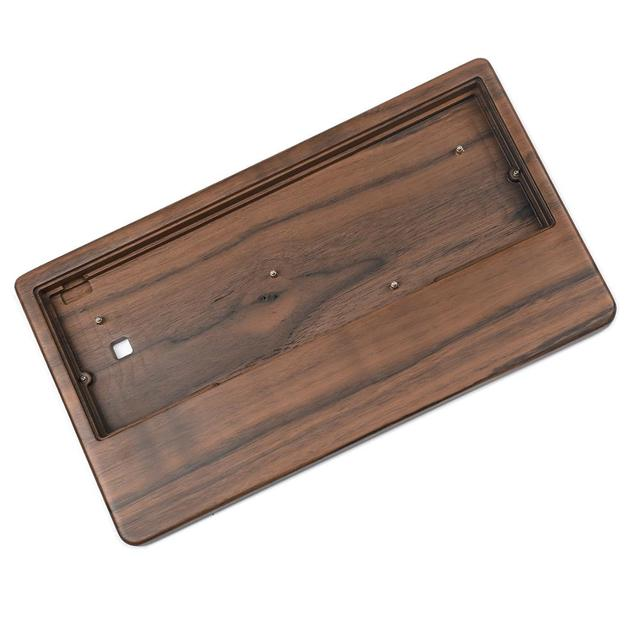 GH60 Bamboo Walnut Wooden Case Wrist Rest 2 in 1 For 60% Mini Mechanical Gaming Keyboard Compatible Pok3r DZ60 YD60MQ XD64