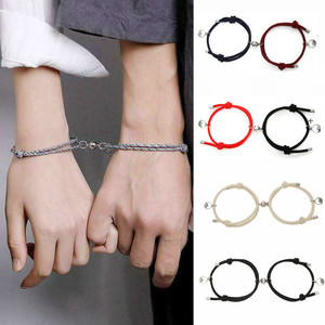 2pcs Couple Magnet Attract Each Other Creative Personality Couple Bracelet Men and Women Charm Girl Bracelet Jewelry Lover Gift