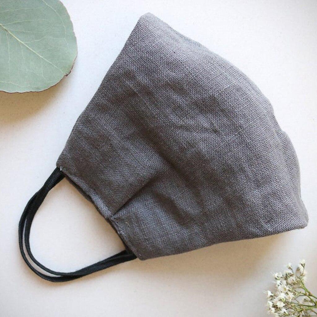 Adulto linho legal boca capa natural à prova de poeira lavável máscaras reutilizáveis verão ao ar livre protetor solar fino mascarillas thin bbbb27