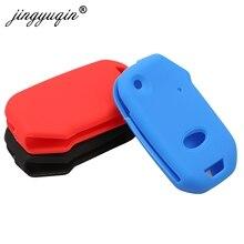 jingyuqin 30pcs Remote Flip Key Case For Kia Sportage Ceed Sorento Cerato Forte Silicone Fob Cover Skin Rubber Holder 2017-2019