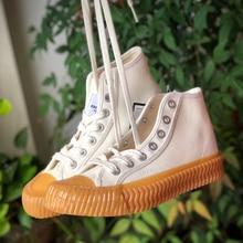 Breathable High top Biscuit shoes simple elegant vulcanize canvas non-slip wear-resistant outdoor flatform scarpe donna