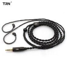 TRN Core haute pureté cuivre câble mis à niveau MMCX/2pin connecteur écouteur 3.5MM prise pour TFZ TRN V30 V80 IM1 IM2 TRN X6 Jack