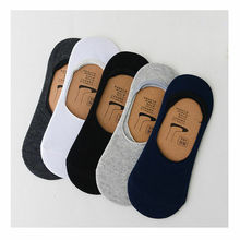5 Pairs Men Cotton Socks Summer Breathable Invisible Boat Socks Nonslip Loafer Ankle Low Cut Short Sock Male Sox for Shoes