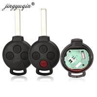jingyuqin 10pcs 3/4 Buttons 433Mhz ID46 Car Remote Key for Mercedes Fit Benz Smart Smart Fortwo 451 2007 2013 Car Key    -