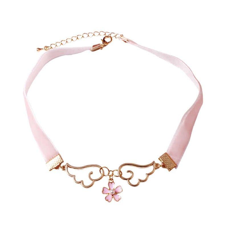 Cuadrado rosa flor encanto Colgante Joyería Cadena Gruesa declaración Gargantilla necklask