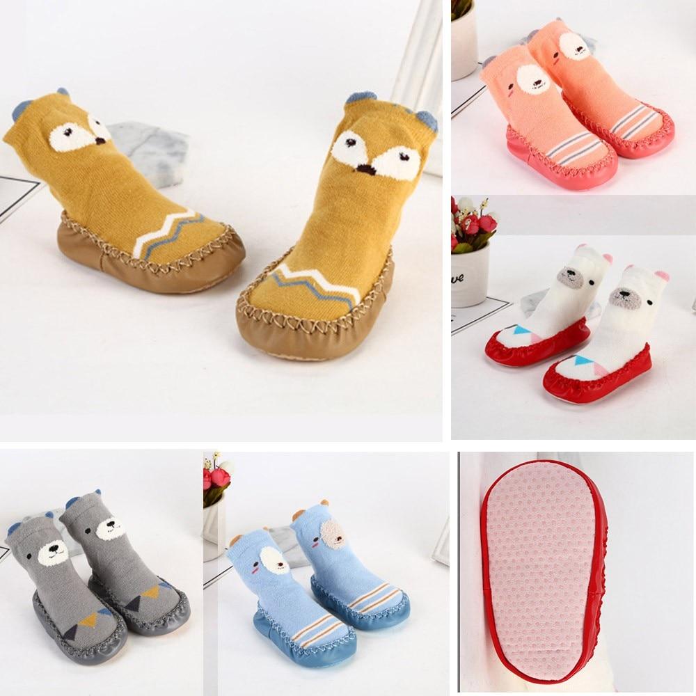 Baby Socks Newborn Baby Girls Boys Winter Socks Infant Winter Warm Soft Thick Anti-slip Socks Slipers