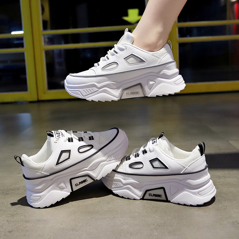 Women Sneakers Casual-Shoes Comfortable Mesh White Fashion Ladies Basket Femme