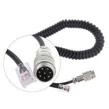 2021 New 8Pin to RJ 45 Modular Plug Mic Cable Adapter for Yaesu Microphone MD 200 MD 100