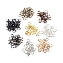 200 pçs diy jóias descobertas aberto único loops salto anéis & anel rachado para fazer jóias anéis de salto aberto conectores por atacado