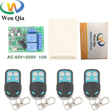 цена на AC85~250V 10A 2200W 2CH Remote Control Switch Wireless Relay Receiver for rf 433MHz Remote Garage Lighting Electric Door switch