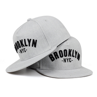 Gorra bordada con letras de BROOKLYN para hombre, gorro de algodón, ajustado, para deportes al aire libre, ocio, hip hop, 2019