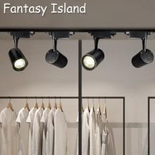 Fantasy Island COB 7W Led Track light aluminum Ceiling Rail Track lighting Spot Rail Spotlights цена