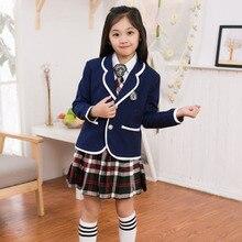 New Autumn uniform school Children suits boys and girls school uniforms  jacket student british style suit