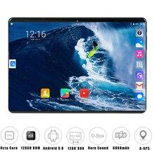 Глобальная версия 10 дюймов планшетный ПК 6 ГБ ОЗУ 128 Гб ПЗУ 1280*800 ips две sim-карты 4G LTE FDD Wifi Android 9,0 планшет 10,1+ подарки
