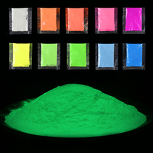 10g Neon Phosphor Powder Nail Glitter Powder Light luminous Rare Earths Dust Phosphor pigment Luminous Powder Glow in the Dark rare earths element collection complete 16 in all europium lutetium