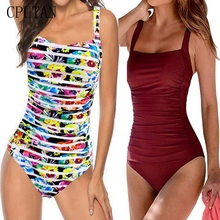 цены 2019 Sexy New One Piece Swimsuit Plus Size Swimwear Women Ruched Tummy Control Bathing Suits Beachwear Backless Swim Suits S~2XL