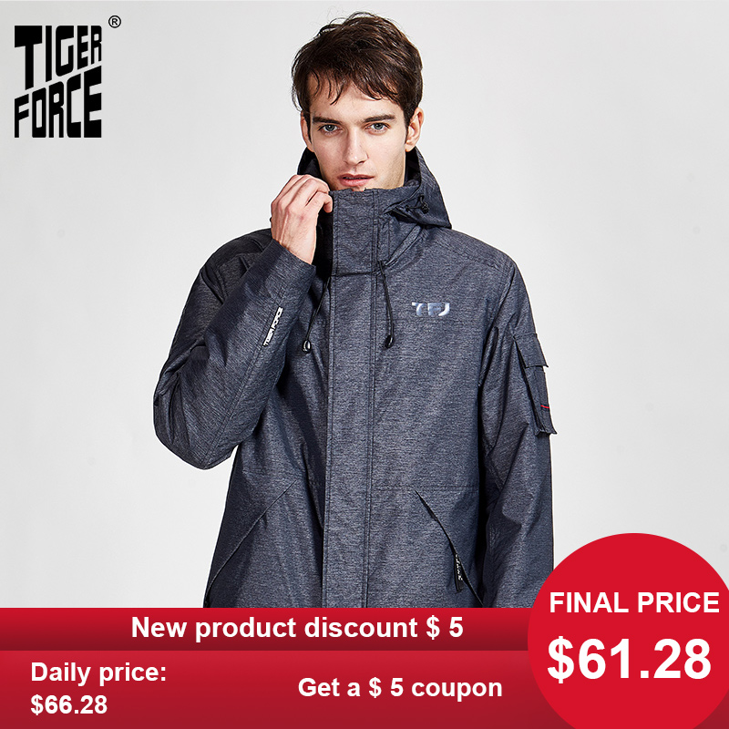 Sport-Jacket Coats Warm-Clothes Hood Spring Tiger-Force Zipper Autumn Casual New  title=