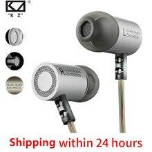 KZ ED4 Metal Stereo kulaklık gürültü izole kulak müzik mikrofonlu tekli kulaklıklar cep telefonu için MP3 MP4
