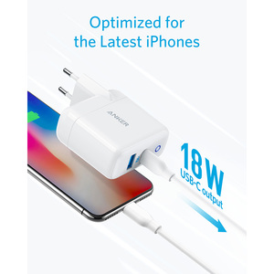 Image 4 - iPhone 12 Charger, Anker 30W 2 Port Fast Charger with 18W USB C Power Adapter, Foldable PowerPort PD 2 for iPhone 12 series